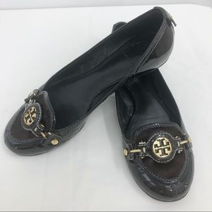 Tory Burch brown leather flats size 8